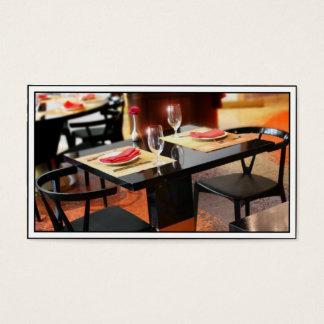 2のためのロマンチックな夕食 名刺