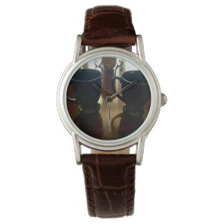 2のための茶 腕時計