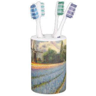 2のオランダの球根分野の芸術の写真2 歯ブラシスタンド
