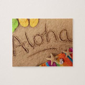 2の砂浜で、書かれる単語アロハ ジグソーパズル