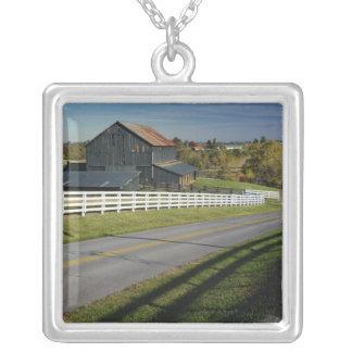 2のBluegrassの地域による田園道 シルバープレートネックレス