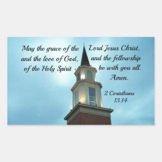 2イングリッシュホーン。 13:14 5月主のイエス・キリスト優美… 長方形シール