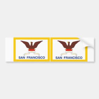 2サンフランシスコの旗 バンパーステッカー
