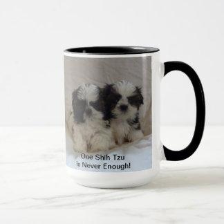 2シーズー(犬)のTzuの子犬のマグ マグカップ
