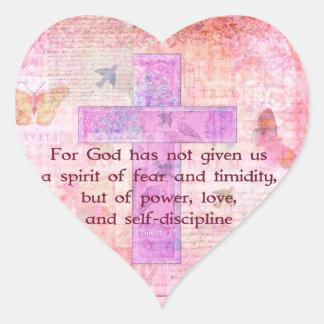 2テモテの1:7の聖書の引用文の聖なる書物、経典 ハートシール