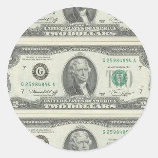 2ドル ラウンドシール