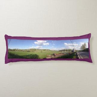 2パノラマ式の写真のすみれ色のカスタムな抱き枕 抱き枕