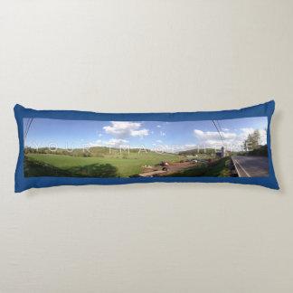 2パノラマ式の写真の青くカスタムな抱き枕 抱き枕