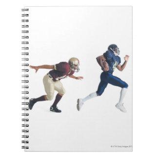 2人のアフリカ系アメリカ人のアメリカン・フットボールプレーヤー ノートブック