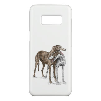 2人のグレイハウンドの友人犬の芸術 Case-Mate SAMSUNG GALAXY S8ケース