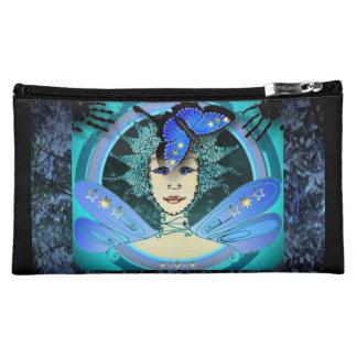 2人のターコイズの妖精が付いている化粧品のバッグ コスメティックバッグ