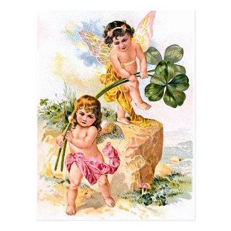 2人のチャーミングな蝶子供 ポストカード
