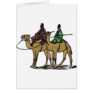 2人のラクダの人 カード