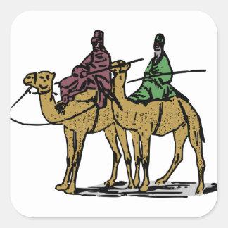 2人のラクダの人 スクエアシール