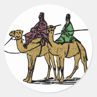 2人のラクダの人 ラウンドシール