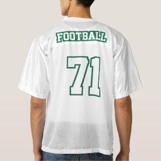 2人の側面の深緑色の白人のフットボールジャージー メンズフットボールジャージー