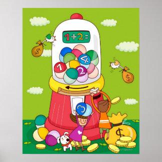 2人の女の子はgumball機械に近づきます ポスター
