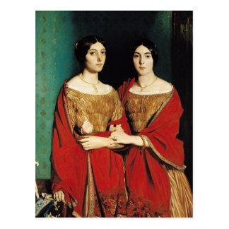 2人の姉妹、かMesdemoiselles Chasseriau ポストカード