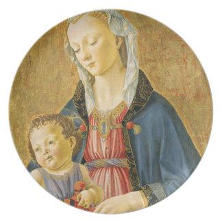 2人の提供者を持つマドンナそして子供、1525-1530年 プレート