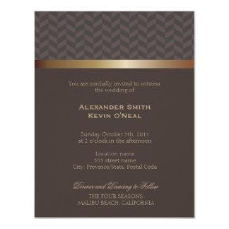 2人の新郎ゲイの結婚式のıの招待状 10.8 x 14 インビテーションカード