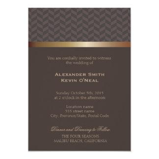 2人の新郎ゲイの結婚式のıの招待状 12.7 x 17.8 インビテーションカード
