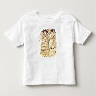 2人の歩くことを描写するプラク トドラーTシャツ