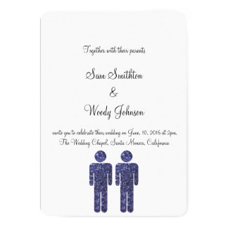 2人の男の子の結婚 カード