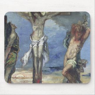 2人の盗人間のキリスト、c.1870 マウスパッド