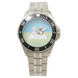 2人の花嫁着色される1人の白人者 腕時計