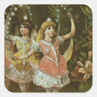 2人の若い女の子はバレエを行います スクエアシール