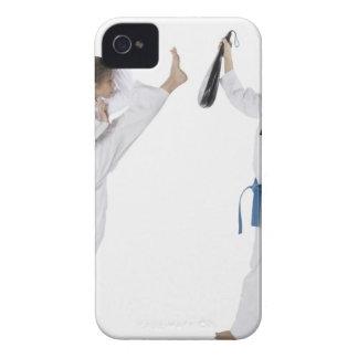 2人の若い女性の練習の側面のプロフィール Case-Mate iPhone 4 ケース