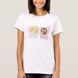 2人の親友のシンプルな綿のTシャツ Tシャツ
