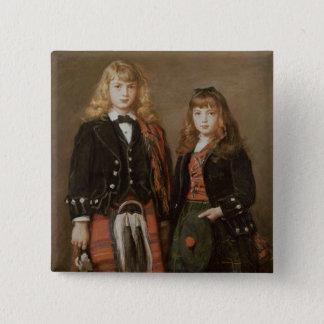 2人のBairns 5.1cm 正方形バッジ