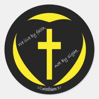 2人のCorinthiansの十字 ラウンドシール