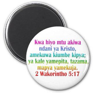 2人のCorinthiansの5:17のスワヒリ語 マグネット
