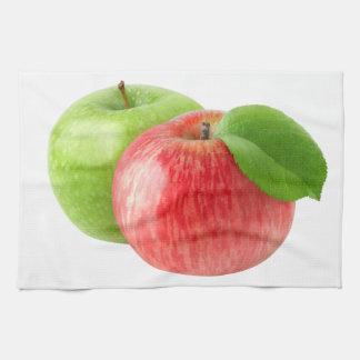 2個のりんご キッチンタオル