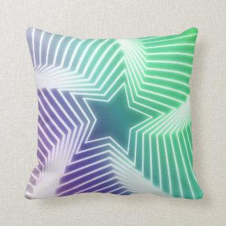 2側面の星パターン枕 クッション