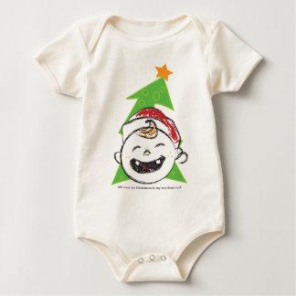 2前部Teefのクリスマス ベビーボディスーツ