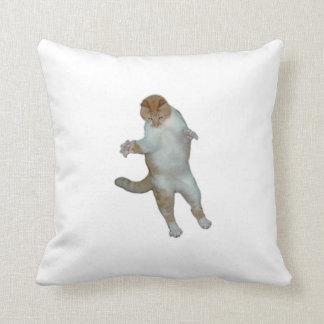 2匹のおもしろいな猫の枕 クッション