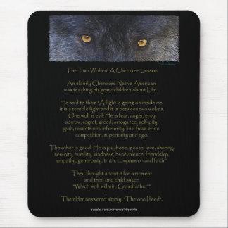 2匹のオオカミのチェロキー物語の芸術のマウスパッド マウスパッド