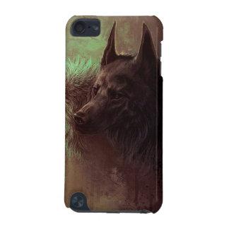 2匹のオオカミ-絵画のオオカミ iPod TOUCH 5G ケース
