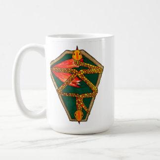 2匹のヘビのマグ コーヒーマグカップ
