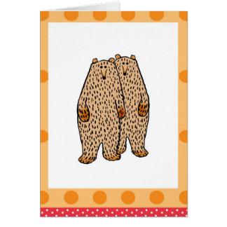2匹の愛らしいヒグマ カード