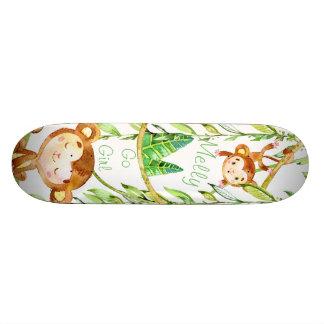 2匹の猿のジャングルのスケートで滑る 18.1CM オールドスクールスケートボードデッキ