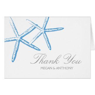 2匹の細いヒトデは感謝していしています ノートカード