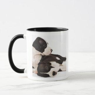 2匹の道化師のグレートデーンの子犬 マグカップ