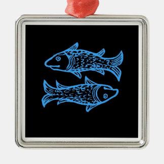 2匹の魚が付いている魚類の(占星術の)十二宮図の印 メタルオーナメント