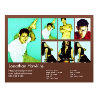 2味方された俳優及びモデルブラウンのHeadshot Comp ポストカード