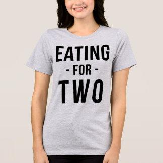 2妊娠したお母さんのためのTumblrのTシャツの食べ物 Tシャツ