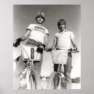 2従がう古い学校BMXのプリント ポスター